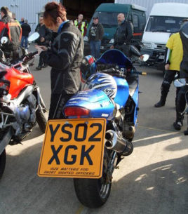 big motorcycle number plate uk 268x305 - Motorbike Number Plates - Everything You Need To Know