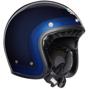 agv helmet legends x70 trofeo blue 305x305 - Best Open Face Motorcycle Helmet