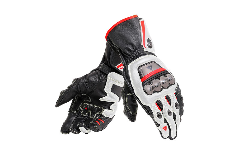 dainese leather gloves full metal 6 black white lava red - The Best Summer Motorcycle Gloves