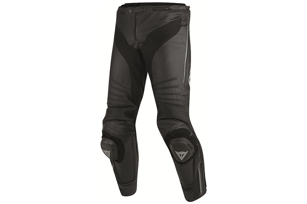 dainese misano perforated leather motorcycle trousers black black anthracite - The Best Leather Motorcycle Trousers