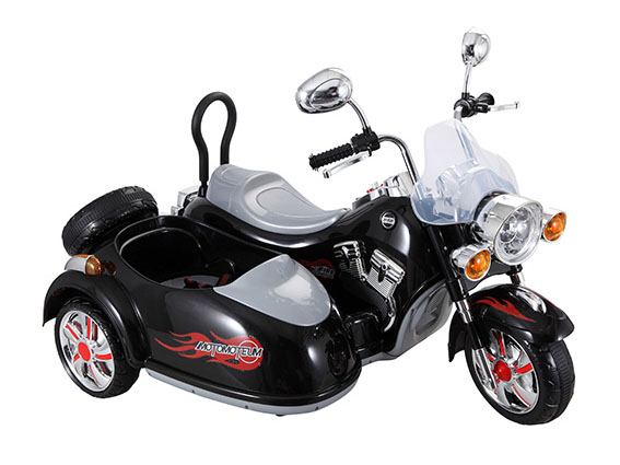 12v Harley Style Kids Electric Motorbike with Sidecar Childrens - Electric Motorcycles for Kids