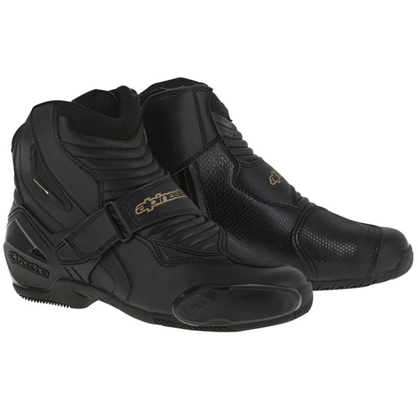 alpinestars boots stella smx 1 r black gold - Ladies Motorcycle Boots Guide
