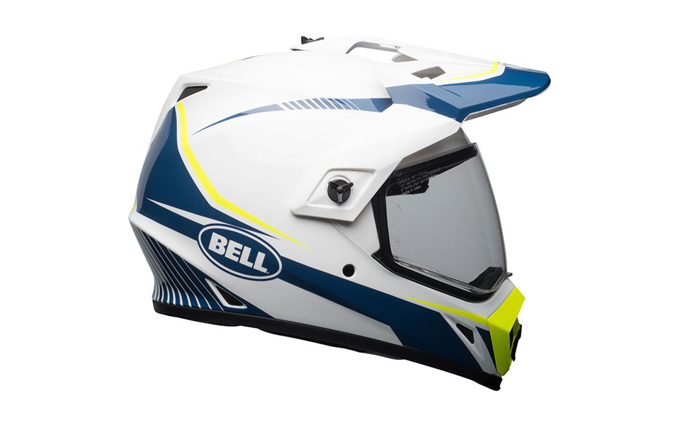 bell helmet mx 9 adventure mips off road torch white blue yellow - Adventure Motorcycle Helmets for Every Budget
