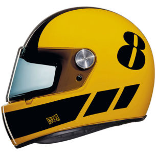 nexx helmet x.g100 racer billy b yellow black retro 305x305 - Retro Motorcycle Helmet Showcase