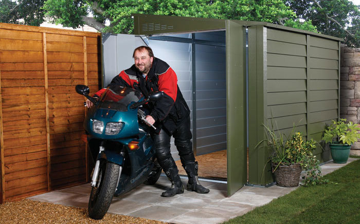 protect a bke pab940 motorcycle metal garage shed - The Best Motorcycle Sheds