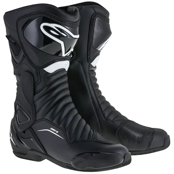 alpinestars boots smx 6 v2 drystar black waterproof boots - The Best Waterproof Motorcycle Boots