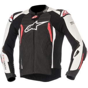 alpinestars gp tech v2 leather jacket white black red 305x305 - Best Leather Motorcycle Jackets