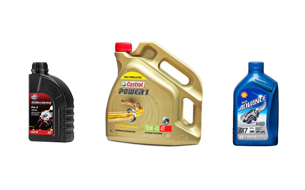 different motorcycle engine oils guide - 10w40 motorcycle oil guide