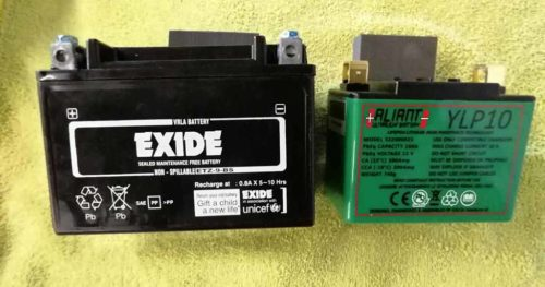 lithium motorcycle battery comparison 500x263 - Piaggio Replacement Battery Finder